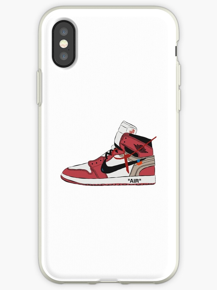 check out 720ed 9ea99 'Off-White Jordan 1 Red' iPhone Case by ArtsYessi