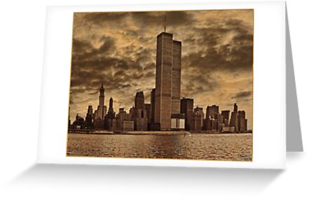 Downtown Manhattan, USA & WTC Towers, Circa 1979 by Chris Lord
