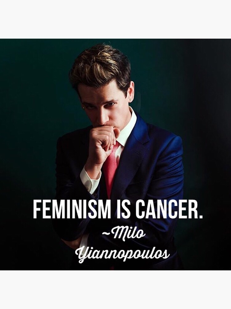 """Milo Yiannopoulos Feminism is Cancer Conservative Libertarian """" Art Board  Print by JeffDavis1861 