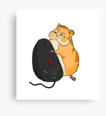 Hamster and a Mouse Canvas Print