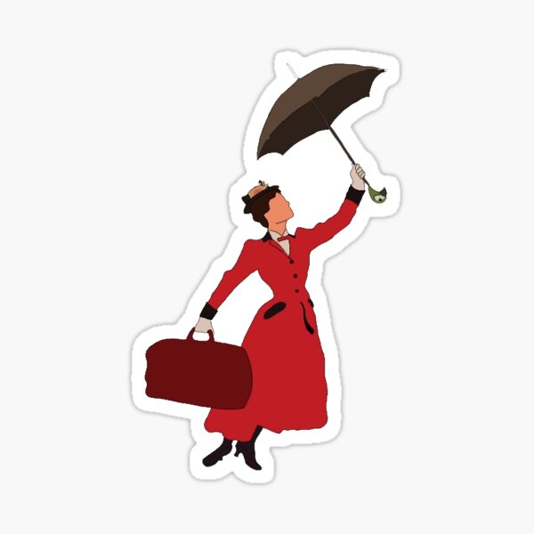 Autocollant et journaux Mary Poppins Sticker