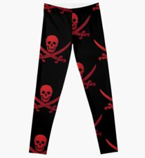 Pirate Flag Skull and Crossed Swords by Chillee Wilson Leggings