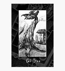 The Cat Tree Doodle page Photographic Print