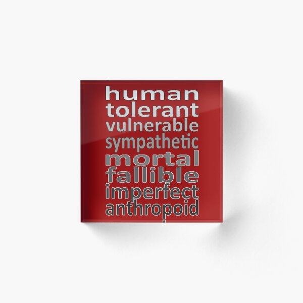 human Acrylic Block