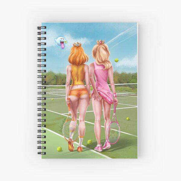 Tennis Girls Spiral Notebook