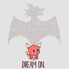 «Soñar en | dragón rojo criatura mítica chibi lindo» de PikachuRox