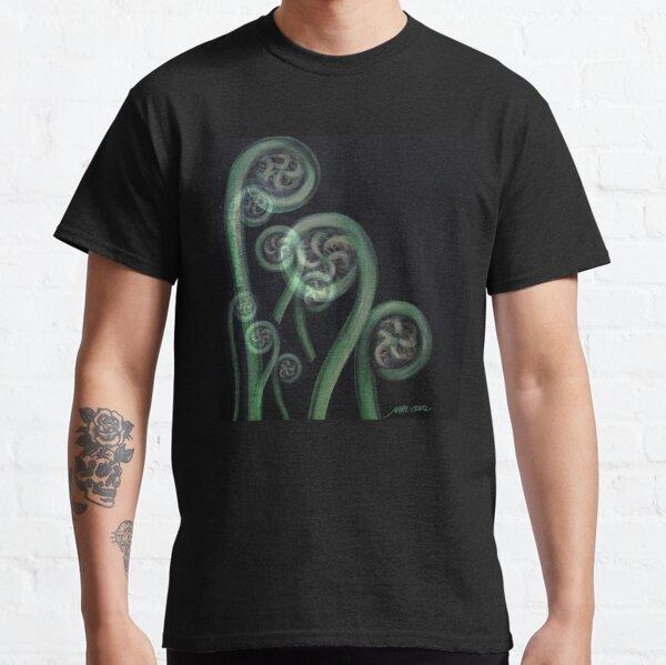 Ferns on Black – Moko Classic T-Shirt