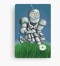 Daisy Picking Robot Canvas Print