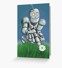 Daisy Picking Robot Greeting Card
