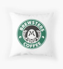 Brewsters Coffee Throw Pillow