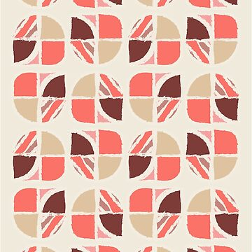 Abstract Design-Living Coral-Cream Background by broadmeadow