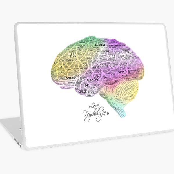 Cerveau - Texte Skin adhésive d'ordinateur