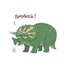 Poopsock (Potty-Mouthed Dino) by Ron Chan