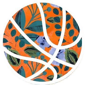 baloncesto floral naranja de sluggishsloth