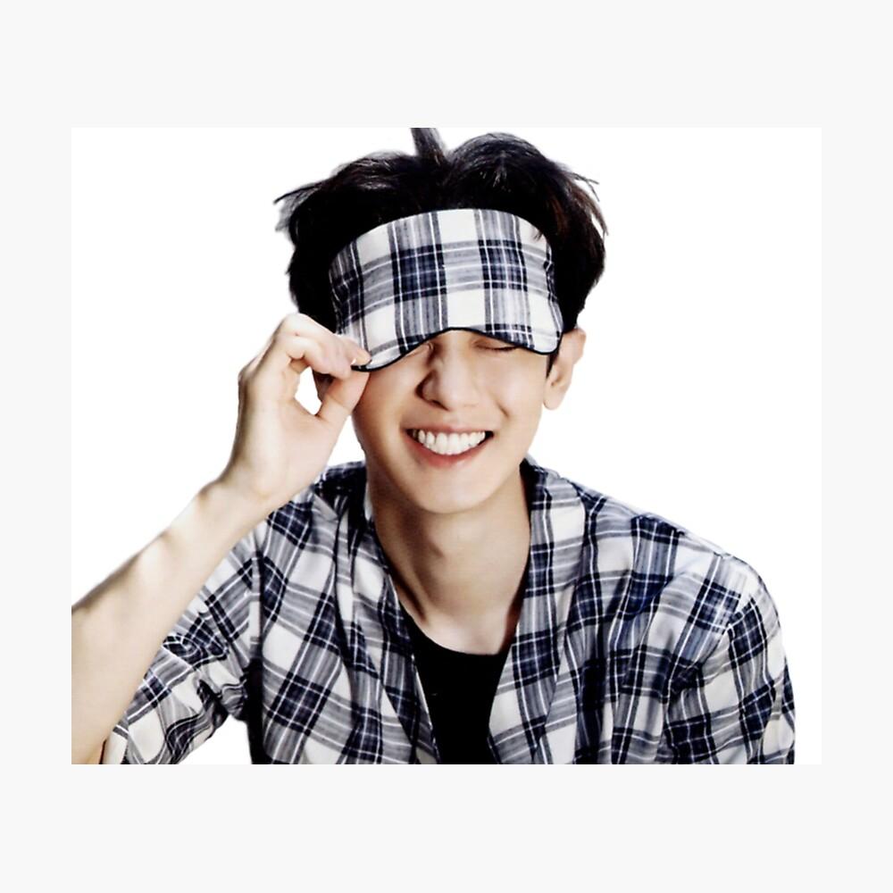 Exo Chanyeol Cute Sleep Mark Poster By Ihearthawaii808 Redbubble