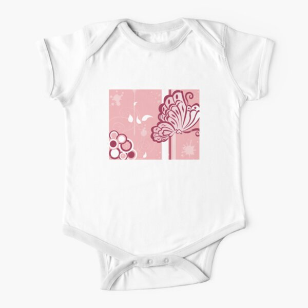 Butterfly Short Sleeve Baby One-Piece