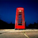 Telephone Box Saltaire at Dusk by Lorne  Campbell