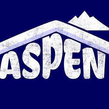 Aspen Colorado Souvenir Rocky Mountains Skiing  by peter2art