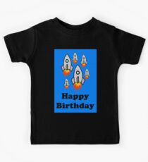 Exodus by Rocket Ships Happy Birthday Greeting Card by Chillee Wilson Kids Tee