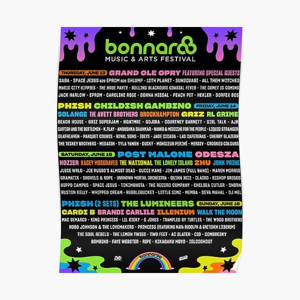 bonnaroo 2019  Poster