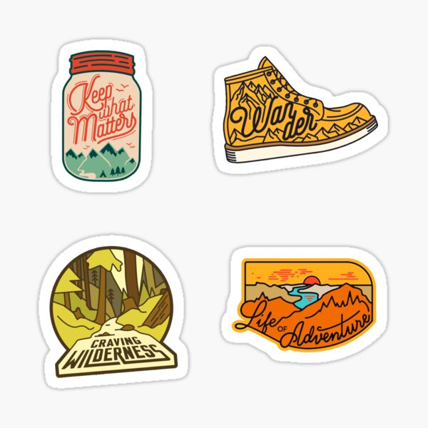 Hiking Pack Sticker