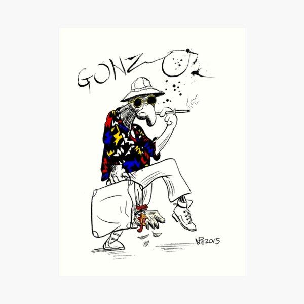 Gonzo- Fear and Loathing in Las Vegas parody Art Print