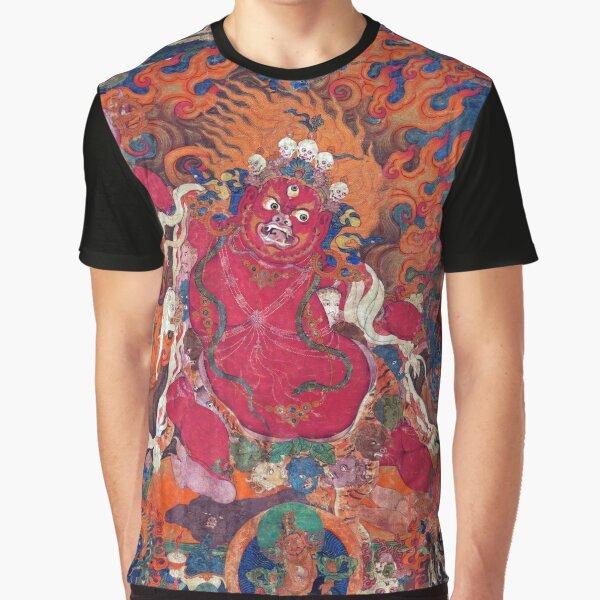 Guru Dragpo (Tibetan Buddhism, Restored Artwork) Graphic T-Shirt
