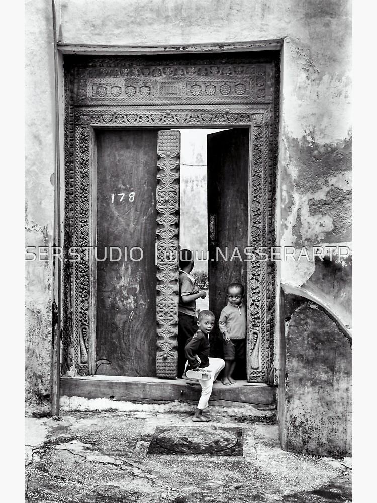 African Kids Playing - Stonetown Zanzibar 3609 Tanzania East Africa by neptuneimages