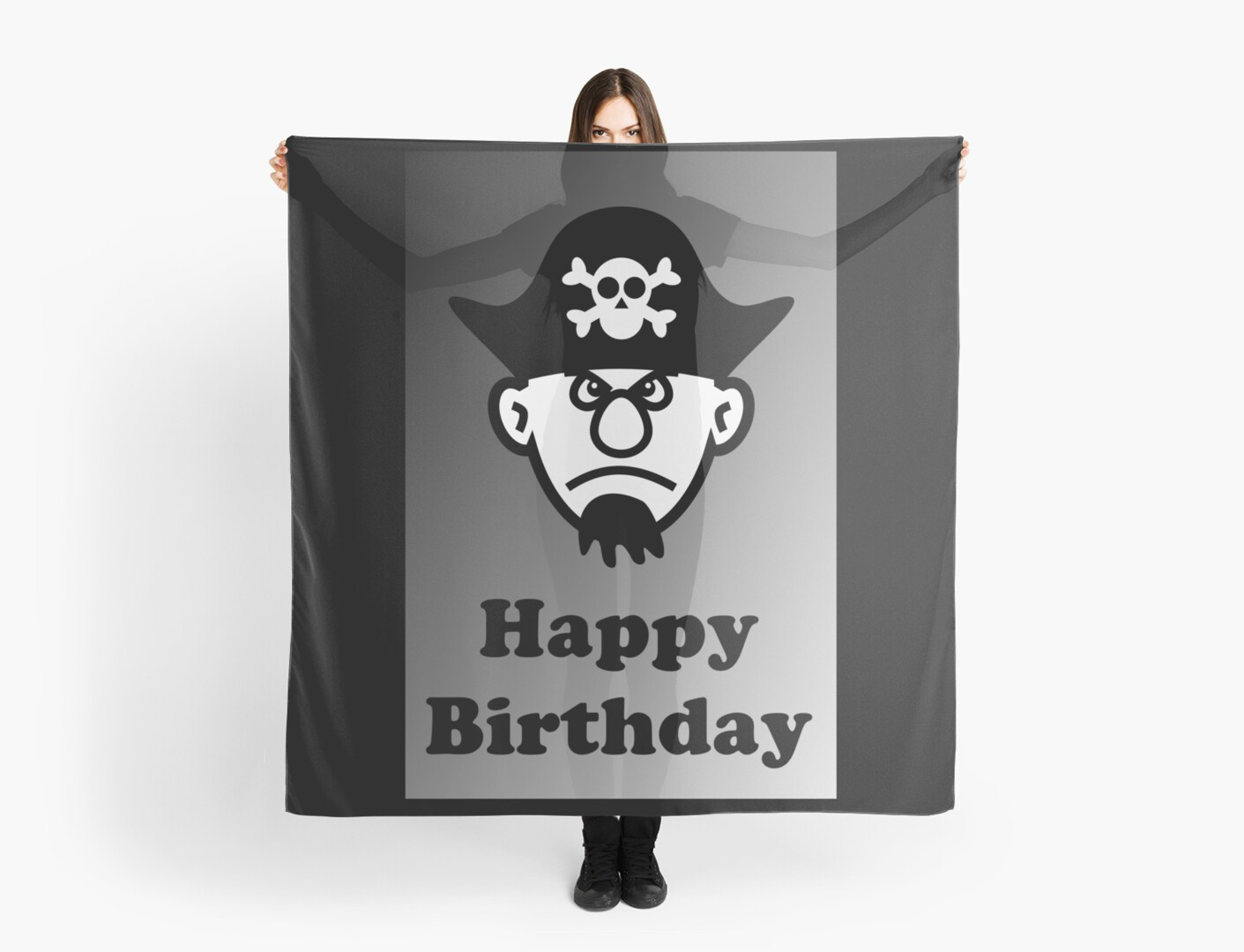 Pirate Happy Birthday Greeting Card by Chillee Wilson by ChilleeWilson