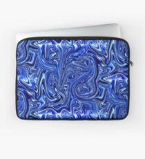 Flüssiges Marmorblau Laptoptasche