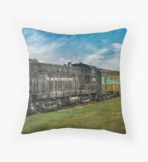 Train - Baldwin Locomotive Works Throw Pillow