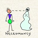 Necromancy Defined in Picture by Margaret Bryant
