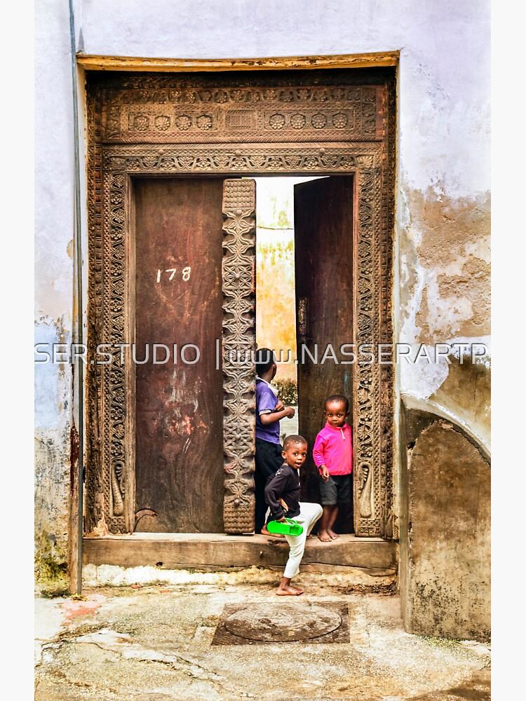 African Kids Playing in Stonetown Zanzibar 3609 Tanzania by neptuneimages