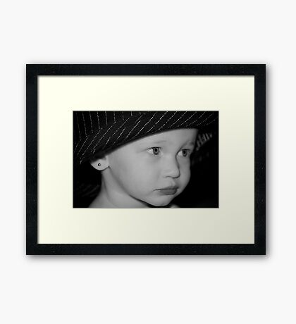 Fashion at 17 months Framed Print