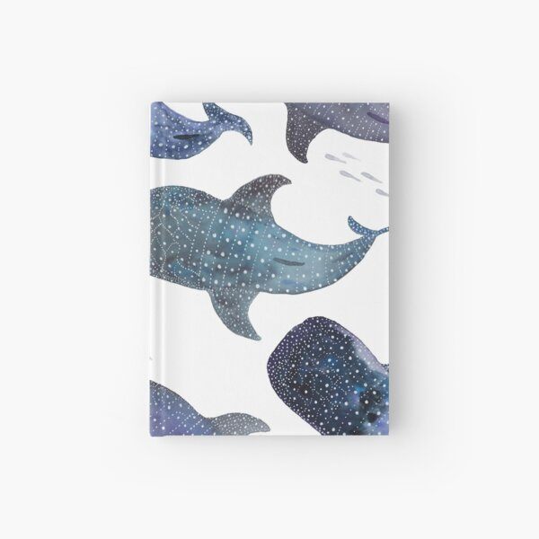 Whale Shark Pattern Party Hardcover Journal