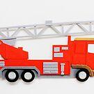 Fire Engine Paper Art by Vicky Pratt