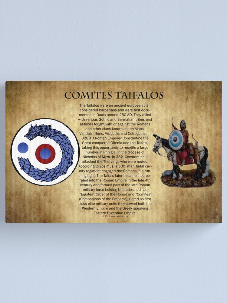 Alternate view of Comites Taifalos - Heraldic Banner Canvas Print