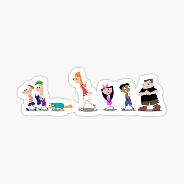 Phineas and Ferb Cast  Sticker