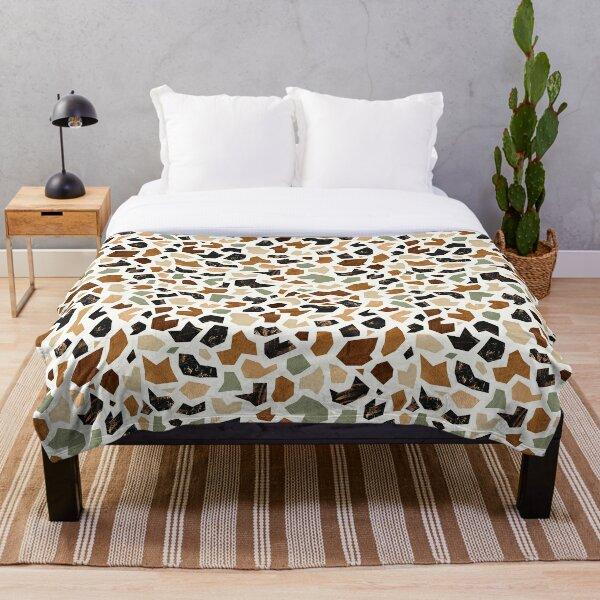 Gold Terrazzo Pattern Throw Blanket