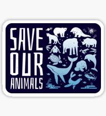 Retten Sie unsere Tiere - gefährdete Tiere der Welt Sticker