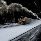 Night train... by Aleksandrs Drozdovs