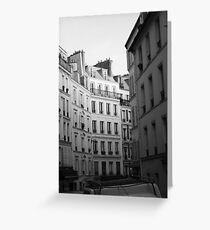 The Back Streets of Montmatre Greeting Card