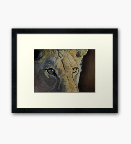 Lion(ess) Eyes Framed Print
