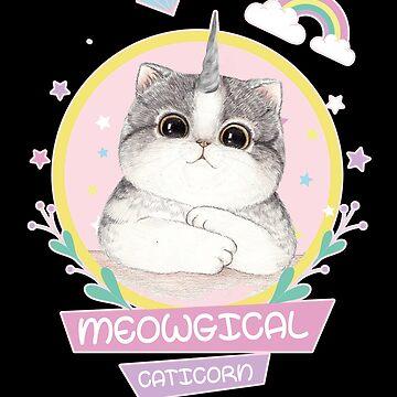 'Meowgical Caticorn Rainbow' Adorable Rainbows Gift by leyogi