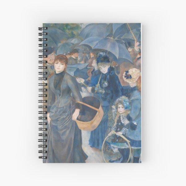 The Umbrellas (Renoir) Spiral Notebook