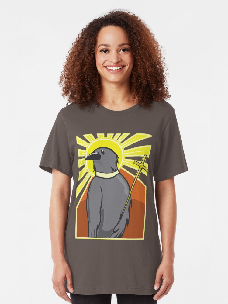 Alternate view of Holy Crow! Slim Fit T-Shirt