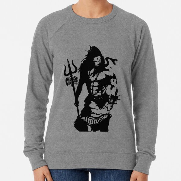 Lord Shiva Art Angry Trishul T-shirt  Lightweight Sweatshirt