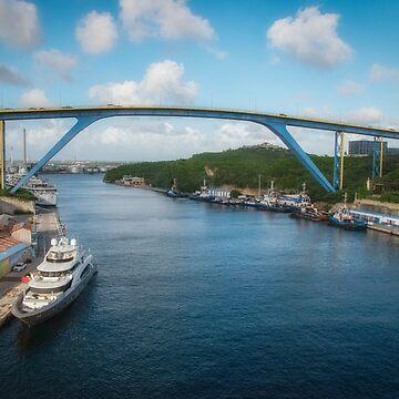 Bridge at Willemstad, Curacao by gerdagrice