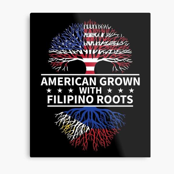 American Grown Filipino Roots Metal Print