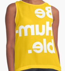 Be Humble - Yellow Contrast Tank